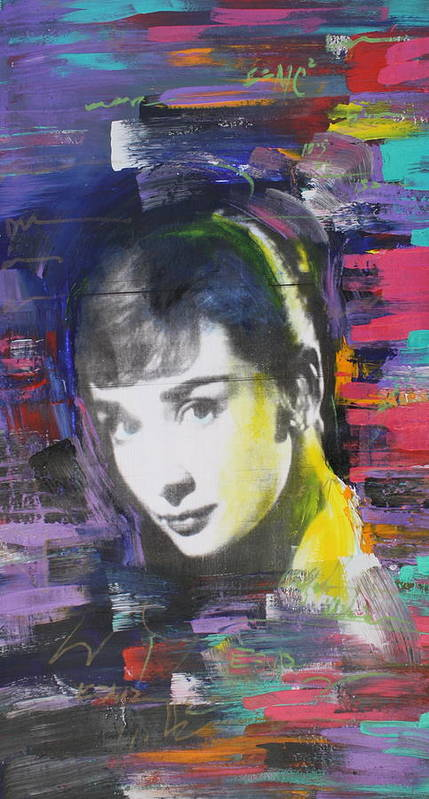 Audrey Hepburn Poster featuring the painting Audrey Hepburn by Walford Williams
