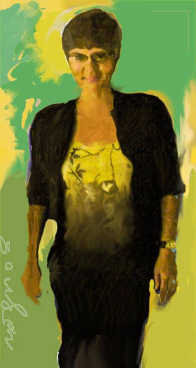 Portrait Poster featuring the painting Joyce by Noredin Morgan