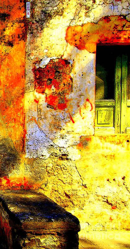 Malfa Poster featuring the photograph Malfa Sunlight by Ayesha DeLorenzo