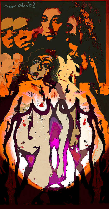 L.s Poster featuring the painting Silent Dance II by Noredin Morgan