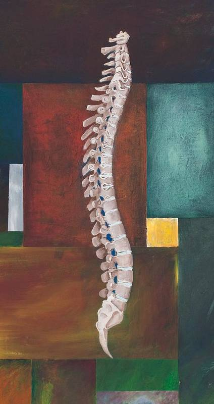 Spine Poster featuring the painting Spinal Column by Sara Young