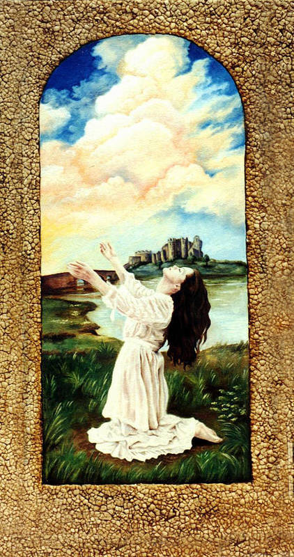 Christian Poster featuring the painting Surrender by Teresa Carter