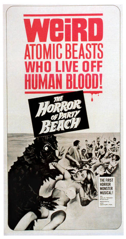 1964 Movies Poster featuring the photograph The Horror Of Party Beach, 1964 by Everett