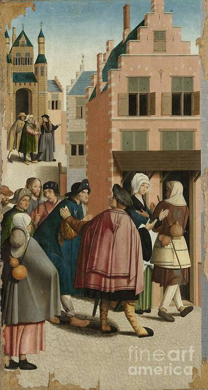 The Seven Works Of Mercy Poster featuring the painting The Seven Works Of Mercy by Celestial Images