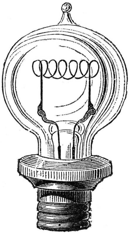 19th Century Poster featuring the photograph Edison Lamp, 19th Century by Granger