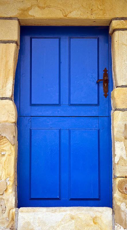 Blue Poster featuring the photograph Blue Door by Frank Tschakert