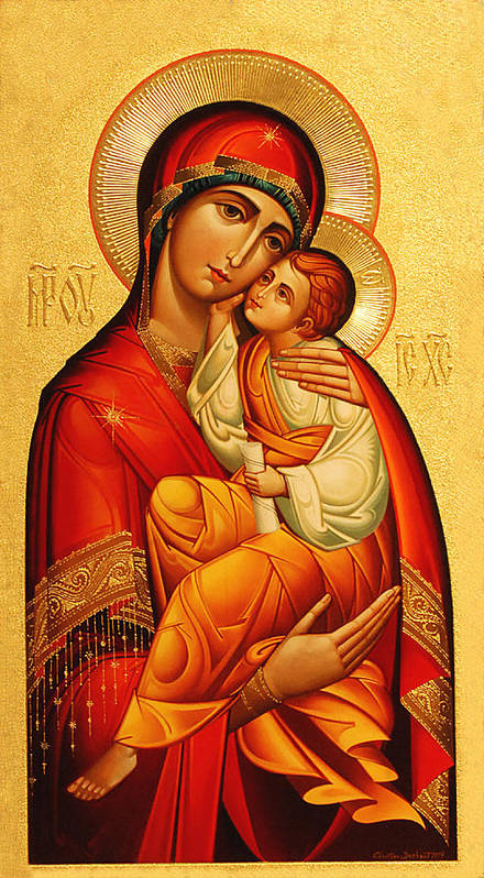 Mary Poster featuring the photograph Mary The God Bearer by Philip Ralley