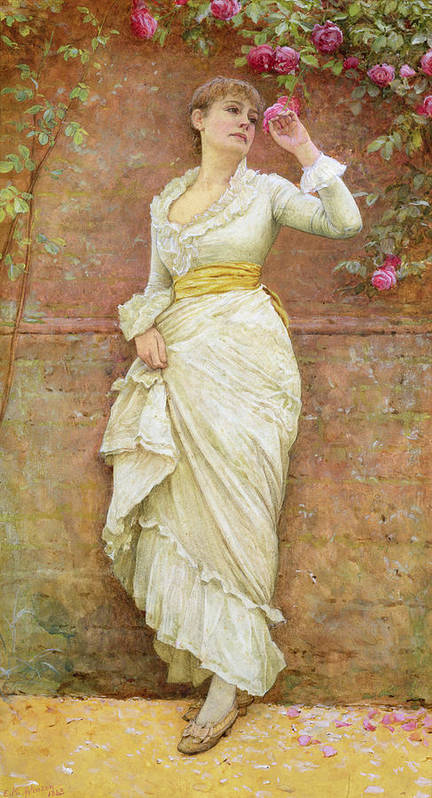 The Rose Poster featuring the painting The Rose by Edward Killingworth Johnson