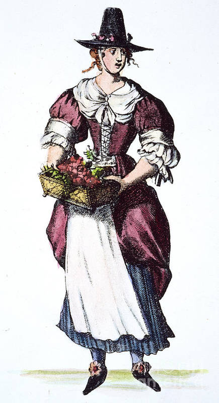 17th Century Poster featuring the photograph Quaker Woman 17th Century by Granger