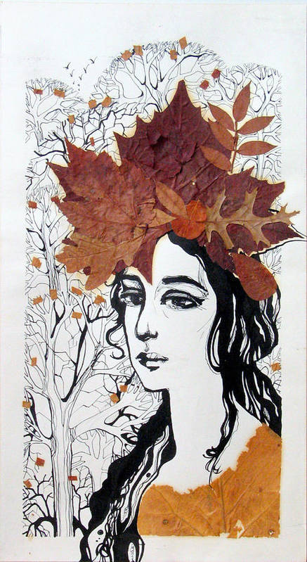 Poster featuring the painting Fall by Valentina Plishchina