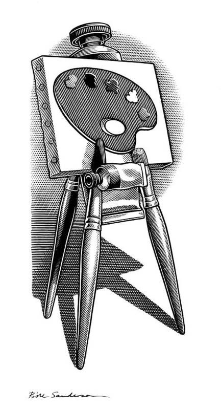 Equipment Poster featuring the photograph Artist's Easel, Artwork by Bill Sanderson