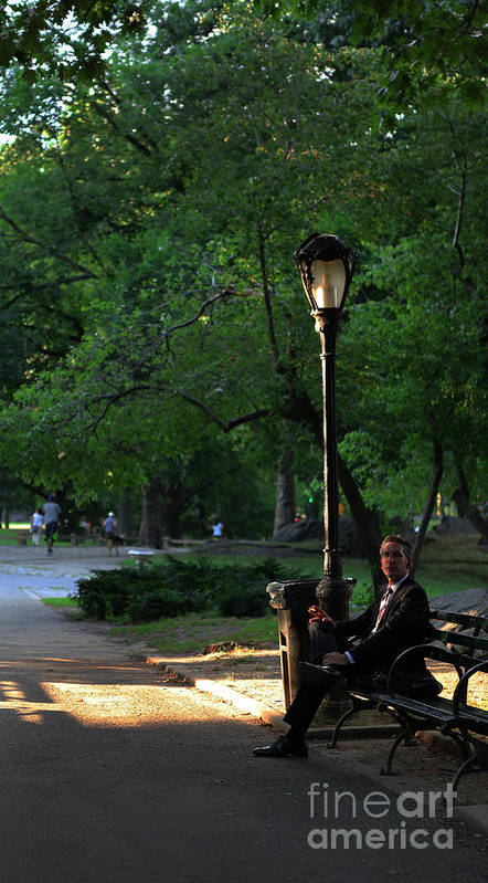 Enjoying The Moment In Central Park Poster featuring the photograph Enjoying The Moment In Central Park by Lee Dos Santos