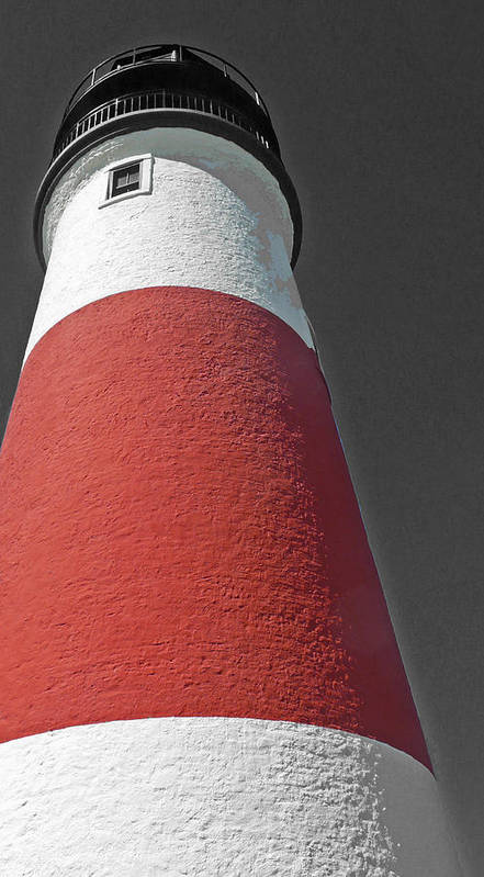 Becky Poster featuring the photograph Historical Sankaty Head Lighthouse by Becky Lodes