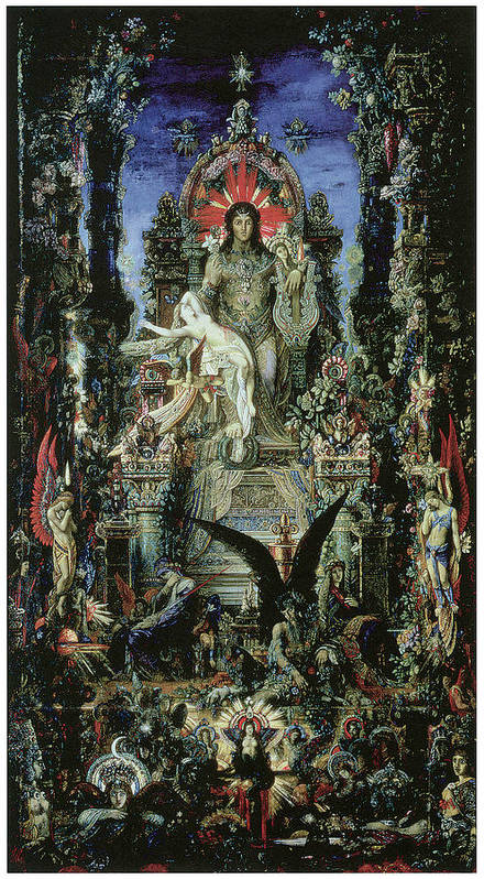 Gustave Moreau Poster featuring the painting Jupiter And Semele by Gustave Moreau