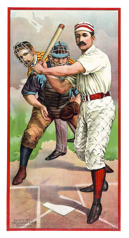 Baseball Poster featuring the photograph 1895 In The Batters Box by Daniel Hagerman