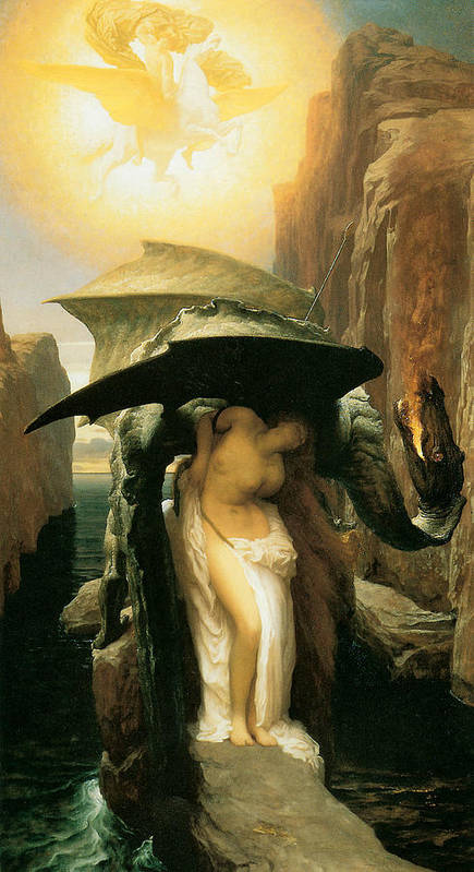 Frederick Leighton Poster featuring the painting Perseus And Andromeda by Frederick Leighton