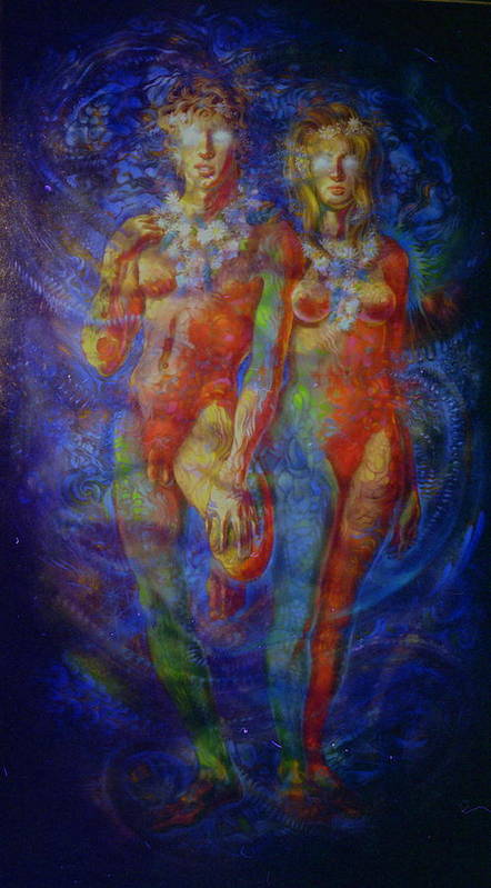 Nude Poster featuring the painting Psychenumenea.02 by Terrell Gates