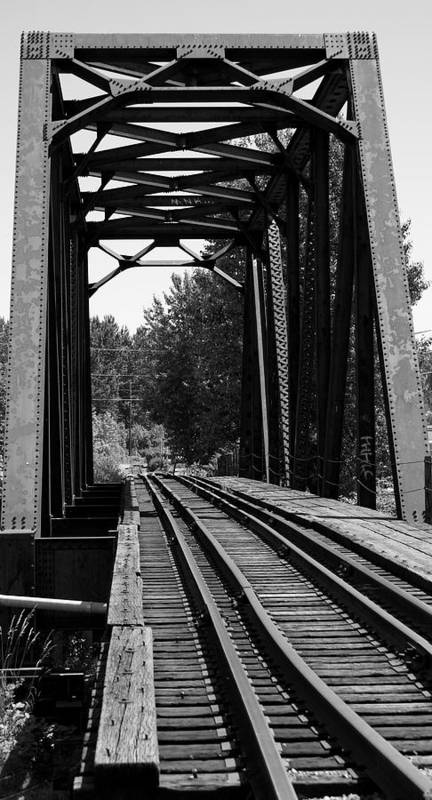 Architecture Poster featuring the photograph Railroad Bridge by Sonja Anderson