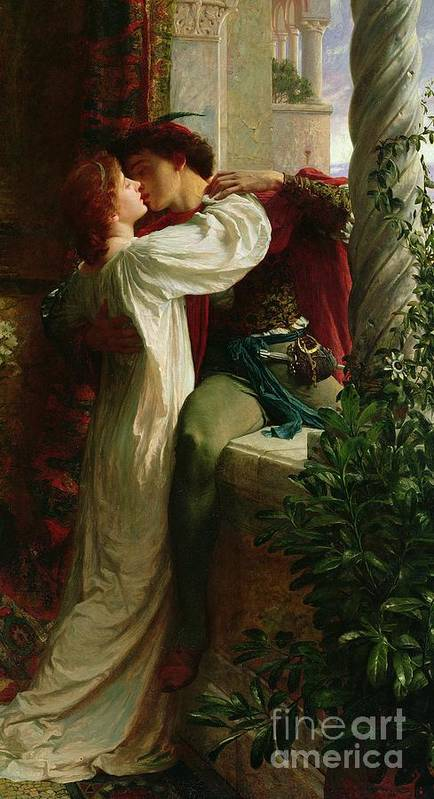 Romeo And Juliet Poster featuring the painting Romeo And Juliet by Sir Frank Dicksee