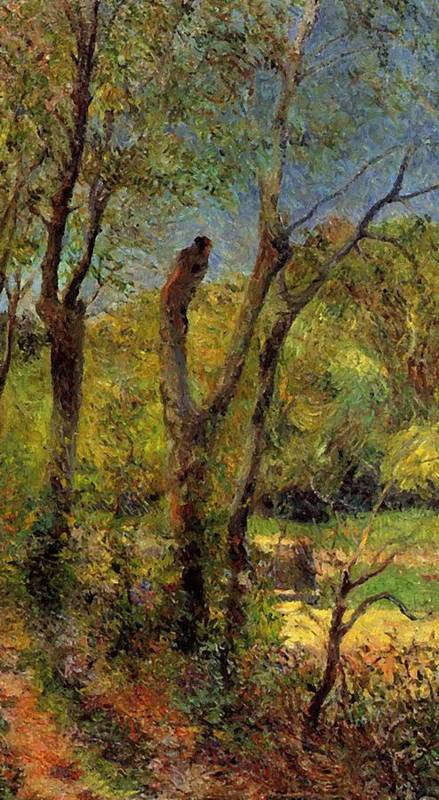Willows Poster featuring the painting Willows 1885 by Gauguin Paul