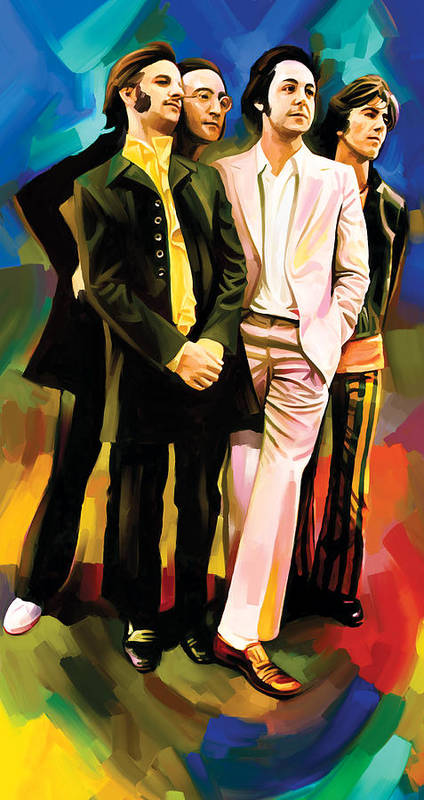 The Beatles Paintings Poster featuring the painting The Beatles Artwork 3 by Sheraz A
