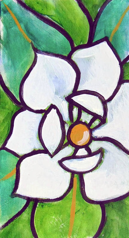 Poster featuring the painting Magnolia 23 by Loretta Nash