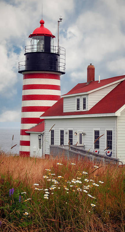 West Quoddy Lighthouse Poster featuring the photograph Quoddy Lighthouse Afternoon by Brenda Giasson
