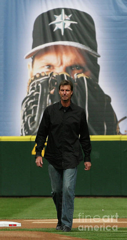 People Poster featuring the photograph Randy Johnson by Otto Greule Jr