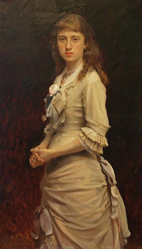 Ivan Kramskoy Poster featuring the painting Sophia Ivanovna Kramskoy, Daughter of the Artist by Ivan Kramskoy