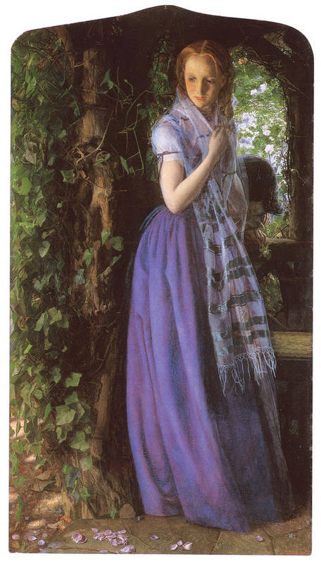 Arthur Hughes Poster featuring the painting April Love by Arthur Hughes