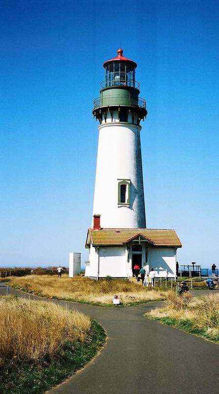 Architecture Poster featuring the photograph Yaquina Head Lighthouse by Richard Jenkins