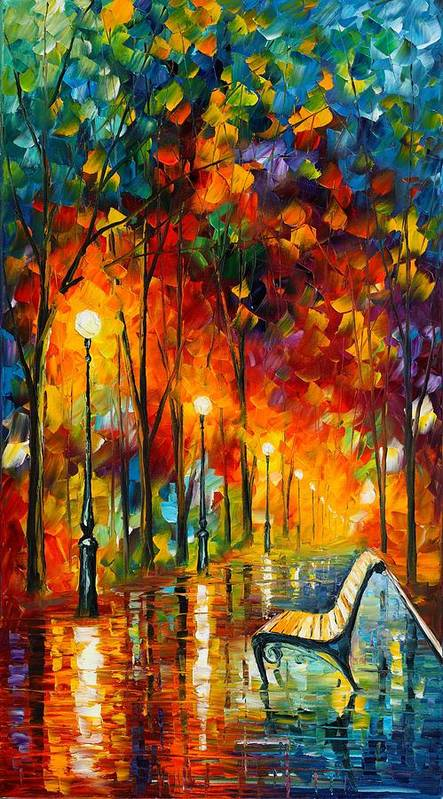 Afremov Poster featuring the painting The Symphony Of Light by Leonid Afremov