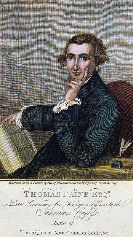 1790s Poster featuring the photograph Thomas Paine (1737-1809) by Granger