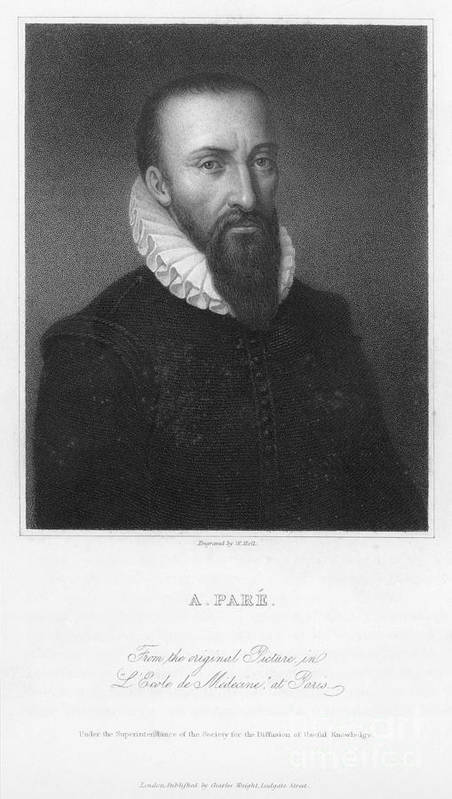 16th Century Poster featuring the photograph Ambroise Pare (1517?-1590) by Granger
