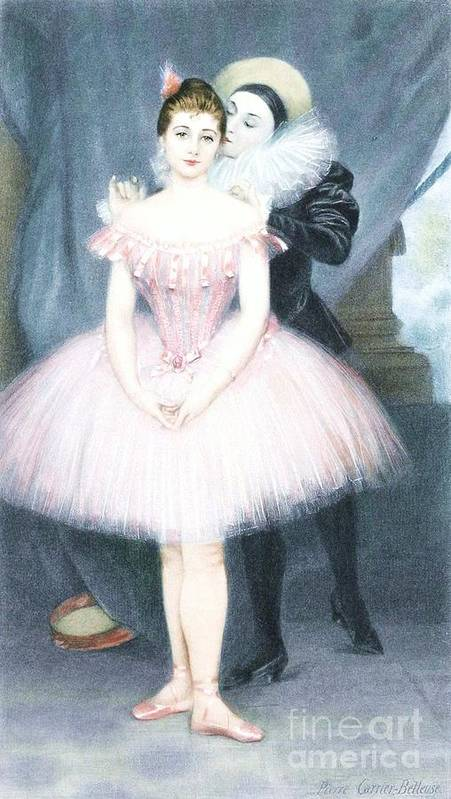 Pd Poster featuring the painting Ballerina In Preparation by Pg Reproductions