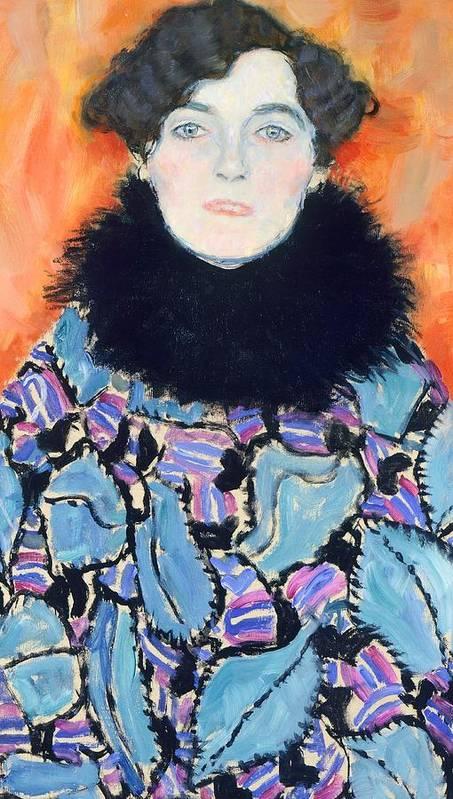 Art Poster featuring the painting Portrait Of Johanna Staude by Gustav Klimt