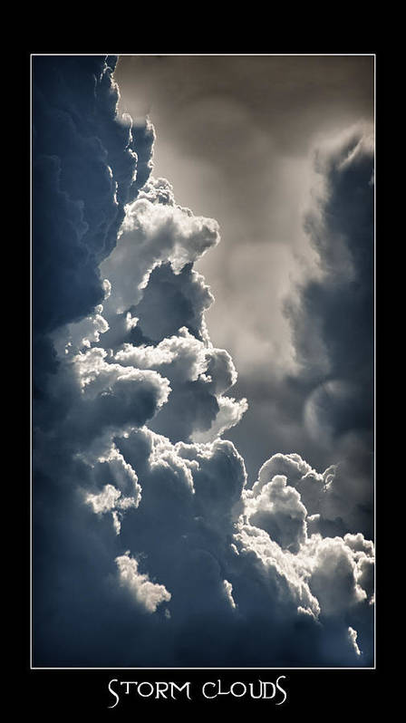 Storm Clouds Poster featuring the photograph Storm Clouds by Vincent Dwyer