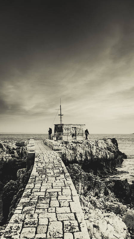 Fisherman Poster featuring the photograph The Fishermen's Hut by Marco Oliveira