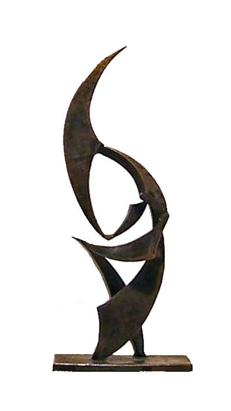 Sculpture Poster featuring the sculpture Conflict by John Neumann