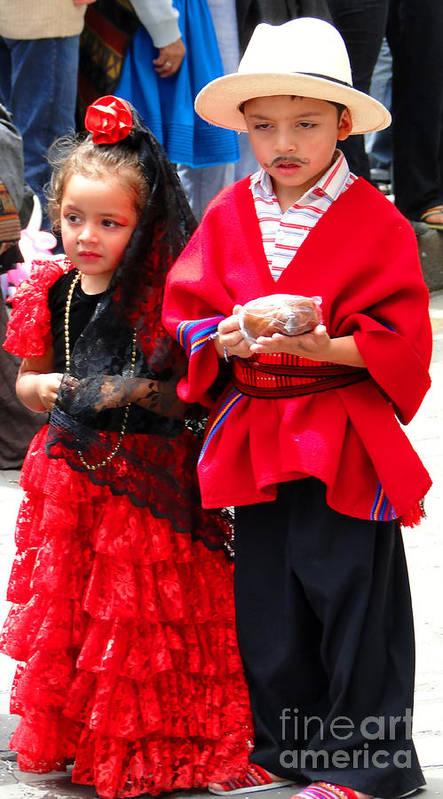 Al Bourassa Poster featuring the photograph Cuenca Kids 78 by Al Bourassa