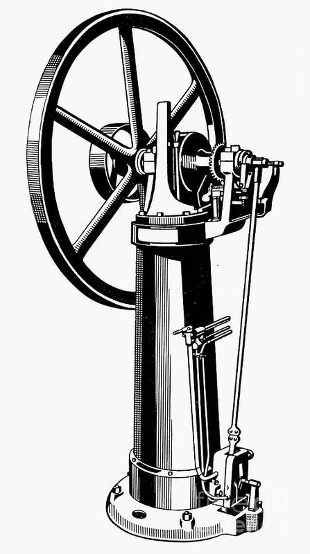 1874 Poster featuring the photograph Internal Combustion Engine by Granger