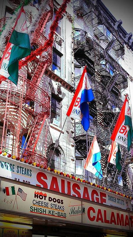 Feast Of San Gennaro Poster featuring the photograph Little Italy In Color by Catie Canetti