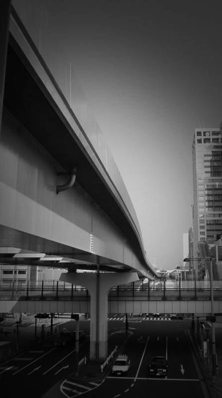 Tokyo Poster featuring the photograph Tokyo Overpass by Naxart Studio