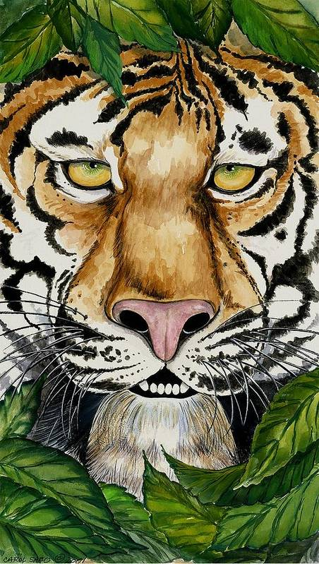 Art Poster featuring the painting Be Like A Tiger by Carol Sabo