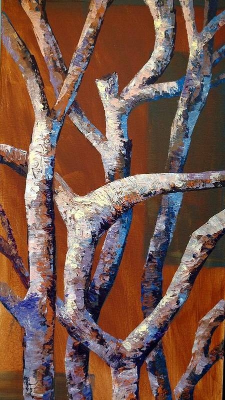 Acrylic Poster featuring the painting Branches by Cathy Fuchs-Holman