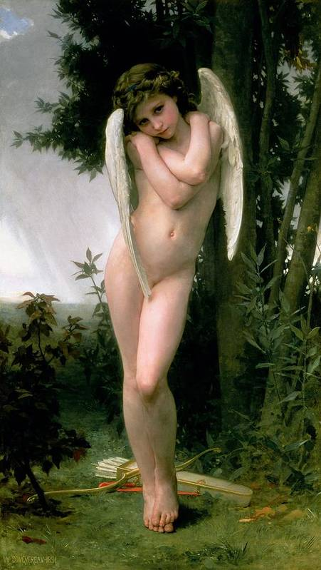 William Adolphe Bouguereau Poster featuring the painting Cupidon by William Adolphe Bouguereau