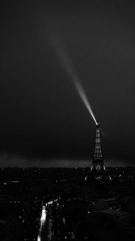 Europe Poster featuring the photograph Eiffel Tower Spotlight 4 Paris France by Lawrence S Richardson Jr