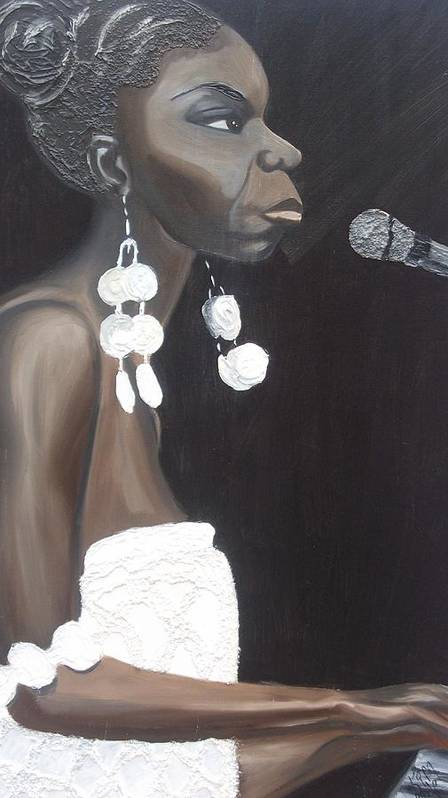 Nina Simone Poster featuring the painting Feeling Good by Kimberly Eide