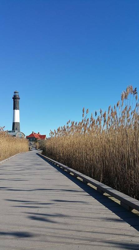 Fire Island Poster featuring the photograph Fire Island Lighthouse by Danielle Attanasio