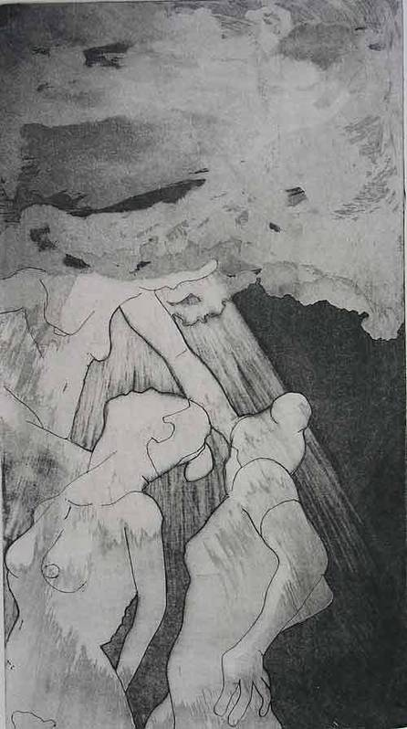 Etching Poster featuring the drawing Heaven Is by Brad Wilson